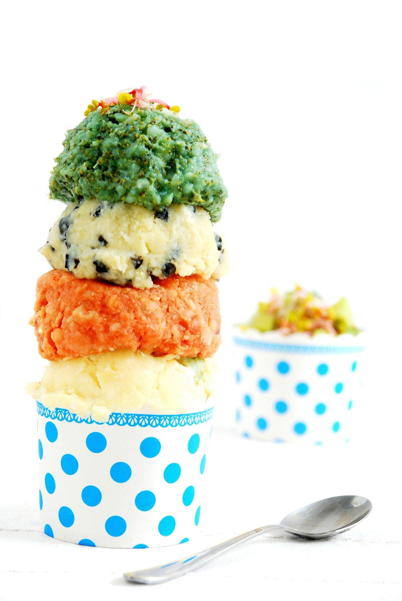 """Kolorowe """"lody"""" ziemniaczane"""