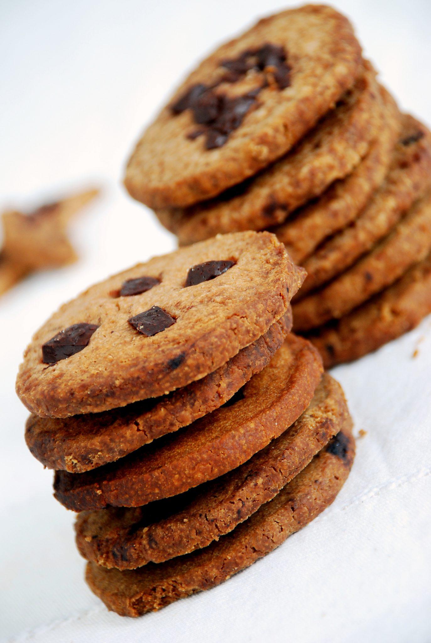 Bezcukrowe ciasteczka z czekoladą