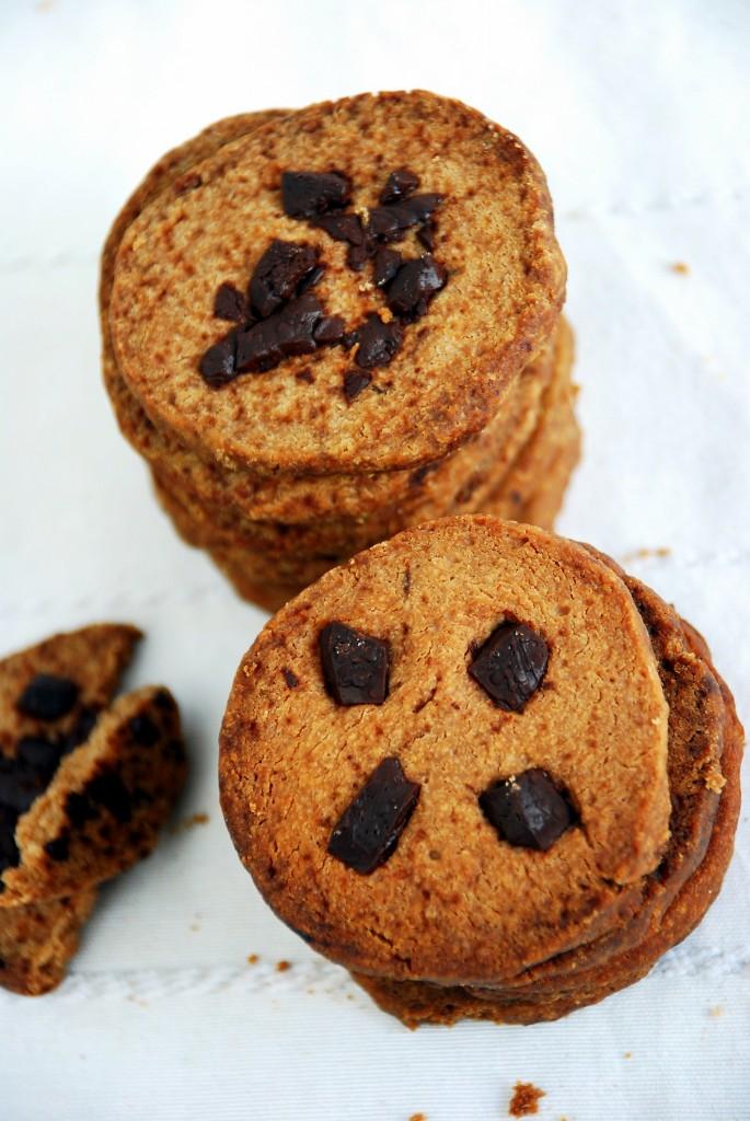 Bezcukrowe ciasteczka zczekoladą