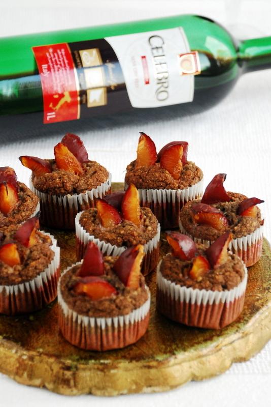 Muffinki zczerwonym winem iśliwkami