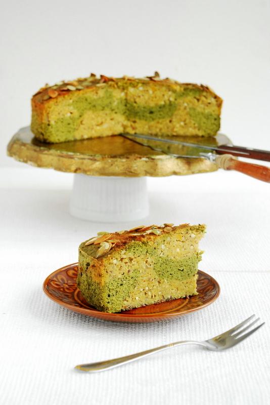 Dwukolorowe ciasto dyniowe