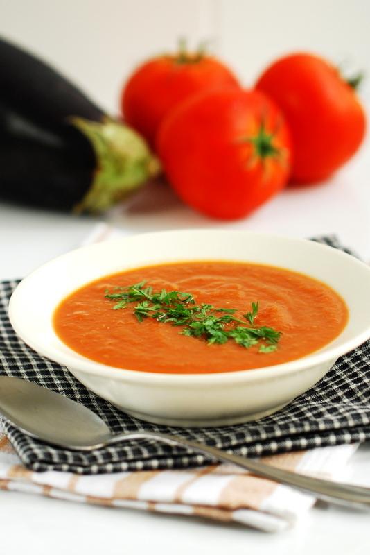 Zupa pomidorowo-bakłażanowa