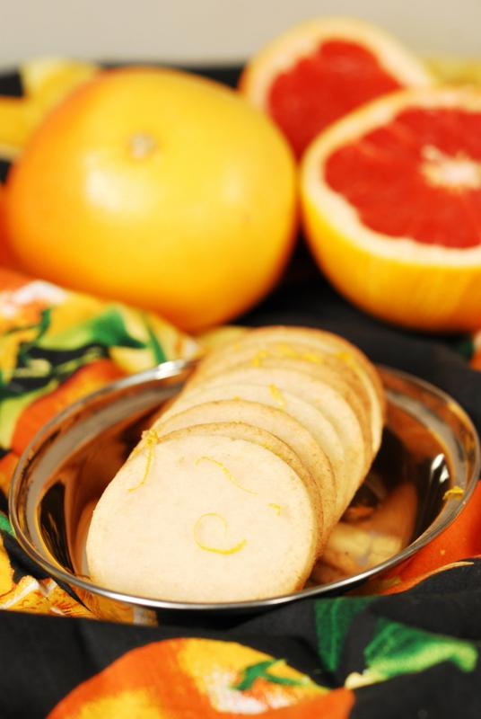 Ciastka z lukrem grejpfrutowym / Glazed grapefruit cookies
