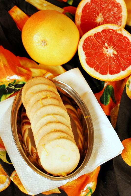 ... lukrem grejpfrutowym / Glazed grapefruit cookies | Na Kuchennym Progu