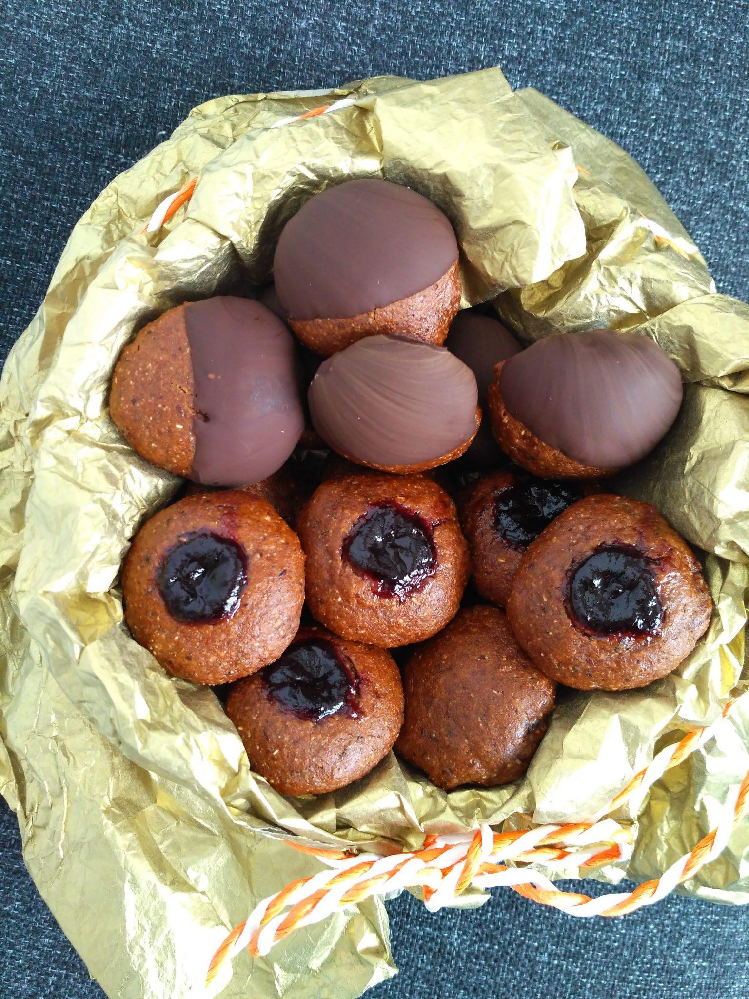 Pierniczki śliwkowe zaparzane (bez glutenu, bez cukru